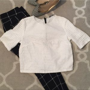 MNG Suit Collection Eyelet Crop Top